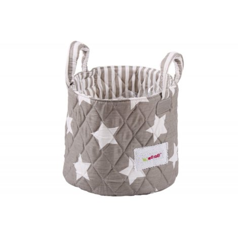 21fab5c5a9d Καλαθάκι καλλυντικών μωρού MINENE Stars Grey :: PaliBaby