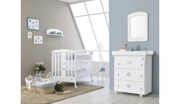 Ολοκληρωμένο βρεφικό δωμάτιo PALI Birillo white με  συρταριέρα-μπανάκι-αλλαξιέρα 753b6d54727