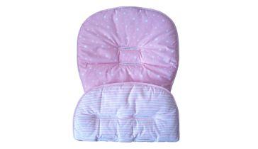 23961a7adec Κάλυμμα καροτσιού NATALINO BEBELINO ροζ με αστέρια