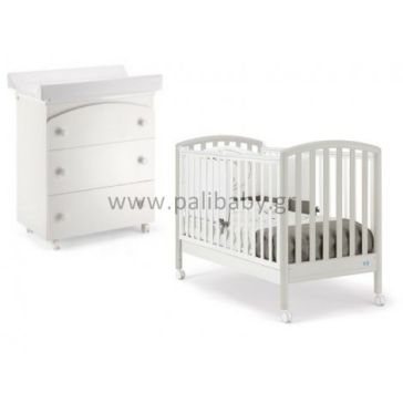 f2365f18d1f Ολοκληρωμένο βρεφικό δωμάτιο PALI Ciak white/grey & Tris white