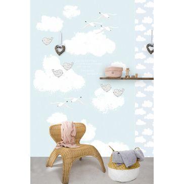 3f6dd1010b3 Παιδική ταπετσαρία τοίχου 2x3m BEHANG KAY & LIV Sweet Clouds