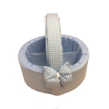 407fbbb6213 Καλαθάκι καλλυντικών μωρού Natalino Bebelino γαλάζιο καρό