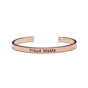 182f6e3c790 Βραχιόλι χειροπέδα PROUD MAMA Bangle Bracelet Rose Gold