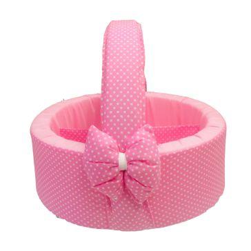 71156ed54c5 Καλαθάκι καλλυντικών μωρού Natalino Bebelino ροζ πουά