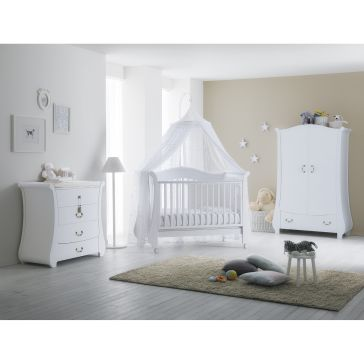 e3a87d83b58 Ολοκληρωμένο βρεφικό δωμάτιo PALI Tulip Baby white με συρταριέρα και στρώμα  κοκκοφοίνικα latex