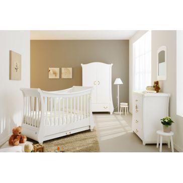 699ff38113f Ολοκληρωμένο βρεφικό δωμάτιo PALI Tulip white με συρταριέρα και στρώμα  κοκκοφοίνικα latex
