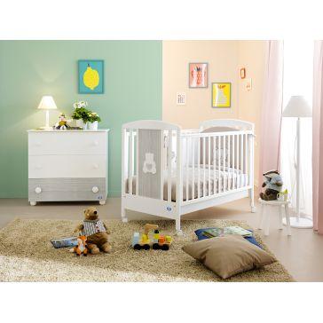 74cfb6833cf Παιδικό κρεβατάκι PALI Gaia, χρώμα λευκό/grey oak