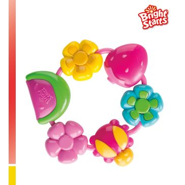 Κρίκος οδοντοφυΐας BRIGHT STARTS Buggie Bites Teether Pretty in Pink