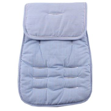 Κάλυμμα καροτσιού MINENE Pushchair & Car Seat Liner Light Blue Stripes/Checker