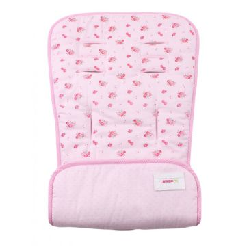 Κάλυμμα καροτσιού MINENE Pushchair & Car Seat Liner Pink Flowers/Dots