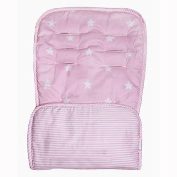 Κάλυμμα καροτσιού MINENE Pushchair & Car Seat Liner Pink Stars/Stripes