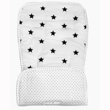 Κάλυμμα καροτσιού MINENE Pushchair & Car Seat Liner Black and White Stars/Dots