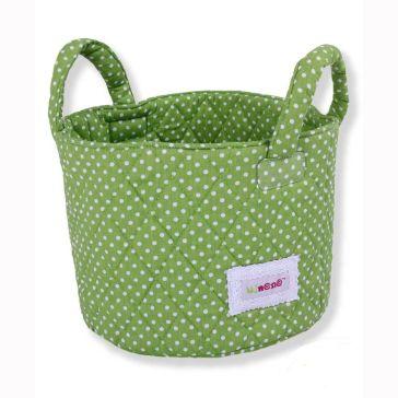 b4afad3539d Καλαθάκι καλλυντικών μωρού MINENE Dots Green