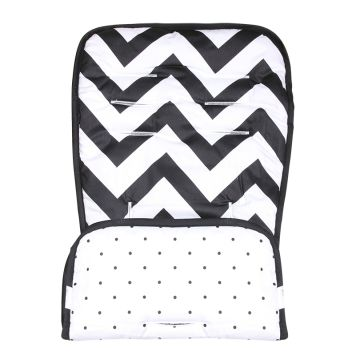Κάλυμμα καροτσιού MINENE Pushchair & Car Seat Liner Black and White Zig Zag
