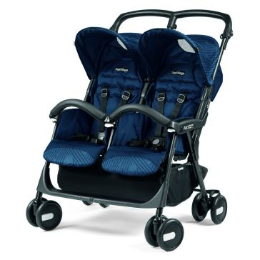 Καρότσι για δίδυμα PEG PEREGO Aria Shopper Twin Geo Navy