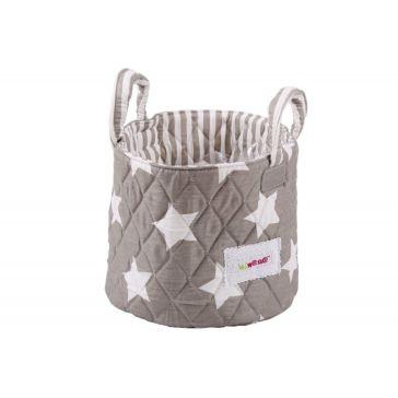 2d2085fbed6 Καλαθάκι καλλυντικών μωρού MINENE Stars Grey