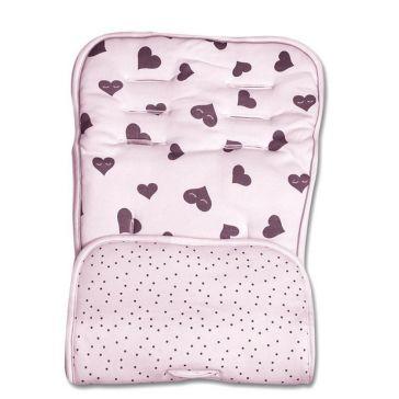 d98f7992e89 Κάλυμμα καροτσιού ζέρσεϋ MINENE Pushchair & Car Seat Liner Pink Hearts