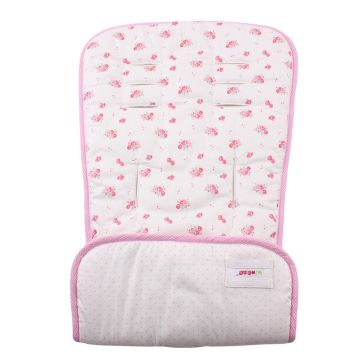 Κάλυμμα καροτσιού MINENE Pushchair & Car Seat Liner Cream Flowers/Pink Dots