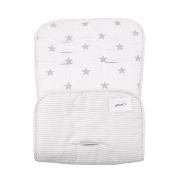 Κάλυμμα καροτσιού MINENE Pushchair & Car Seat Liner Cream Stars/Stripes
