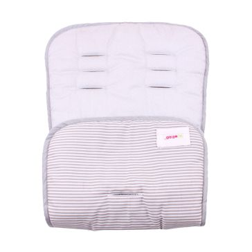 Κάλυμμα καροτσιού MINENE Pushchair & Car Seat Liner Light Grey Dots/Stripes