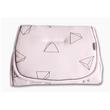 Κάλυμμα καροτσιού πικέ MINENE Pushchair & Car Seat Liner Pink Triangle