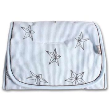 Κάλυμμα καροτσιού πικέ MINENE Pushchair & Car Seat Liner Light Blue Star