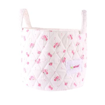 e330c826c43 Καλαθάκι καλλυντικών μωρού MINENE B/W Spring Blossom