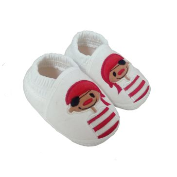 a7462d8b163 Παπουτσάκια βρεφικά FUNNY BABY Pirate white