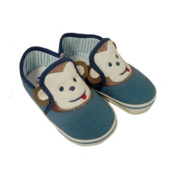38bc2027eb3 Παπουτσάκια αγκαλιάς FUNNY BABY Monkey blue