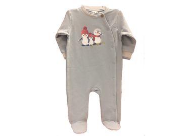 34e97bcd496 Βαμβακερό φορμάκι Funna Baby Grande Famiglia, χρώμα σιέλ :: PaliBaby