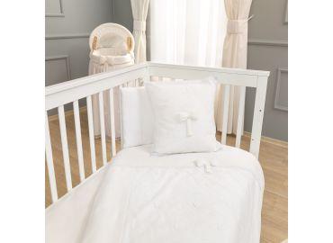 c8f484029fd Σετ σεντόνια κούνιας FUNNA BABY Premium, χρώμα white