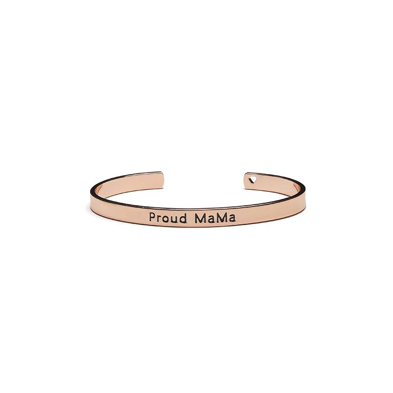 Βραχιόλι χειροπέδα PROUD MAMA Bangle Bracelet Rose Gold