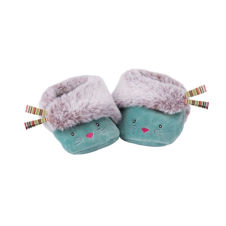 Παντοφλάκια  Moulin Roty Cat blue Les Pachats 660053