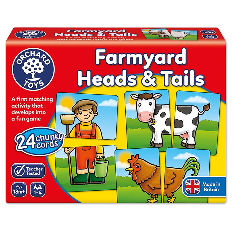 Orchard Toys Farmyard Heads and Tails Game Ηλικίες 18+ μηνών