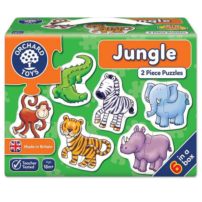 Orchard Toys Jungle Jigsaw Puzzle Ηλικίες 18+ μηνών