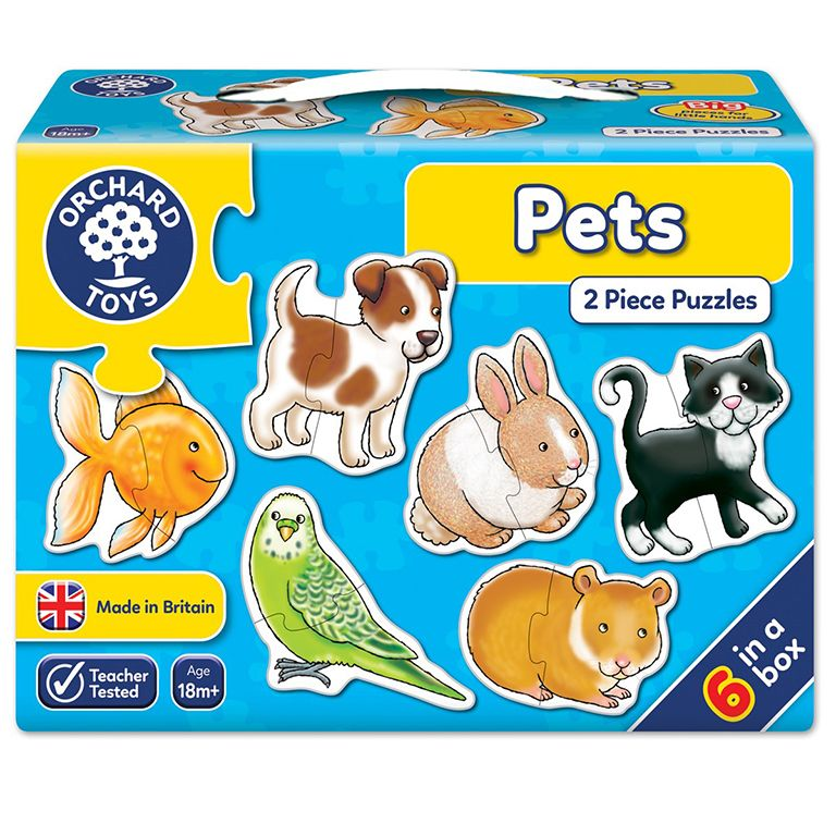 Orchard Toys Pets Jigsaw Puzzle Ηλικίες 18+ μηνών