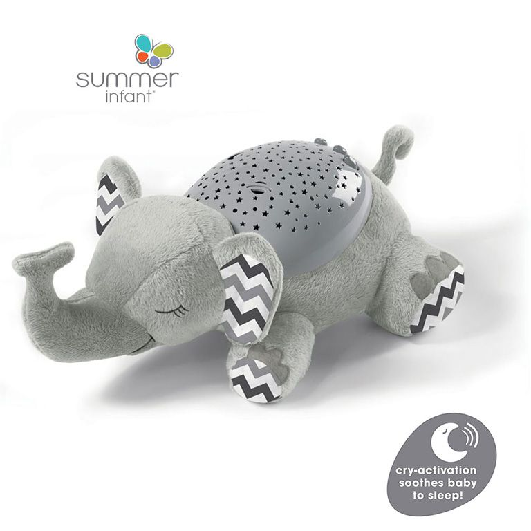 Βοηθός συντροφιάς ύπνου SUMMER INFANT Slumber Buddies®Deluxe – Grey Chevron Elephant