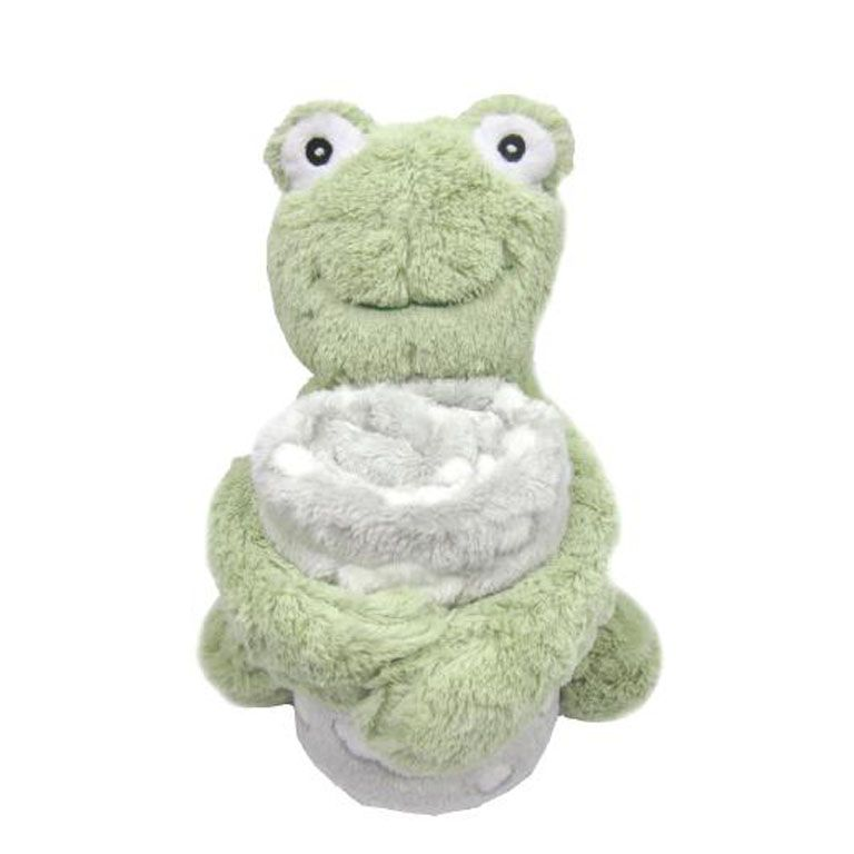 Κουβέρτα αγκαλιάς KIKKABOO Set Toy and blanket Froggy