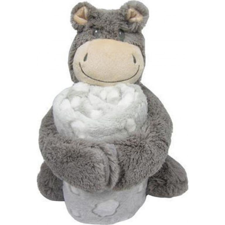 Κουβέρτα αγκαλιάς KIKKABOO Set Toy and blanket Hippo