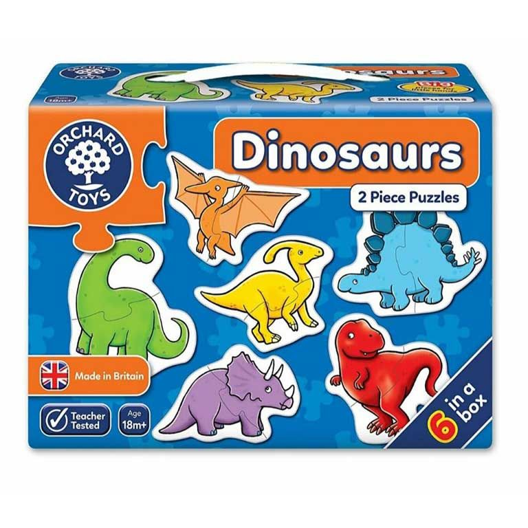 Orchard Toys Dinosaures 2 Piece Puzzles  Ηλικίες 18+ μηνών