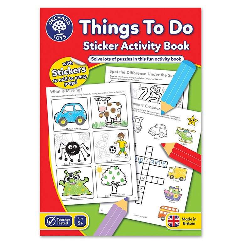 Orchard Toys Things To Do Colouring Book ORCHCB06
