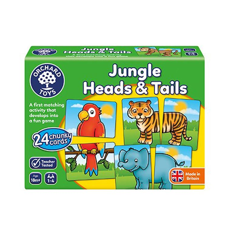 Orchard Toys Jungle Heads & Tails Ηλικίες 18μηνών +