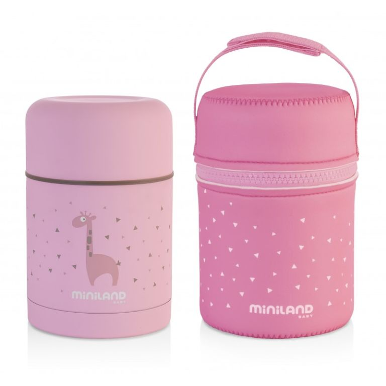 Θερμός φαγητού MINILAND Silky Food Thermos pink