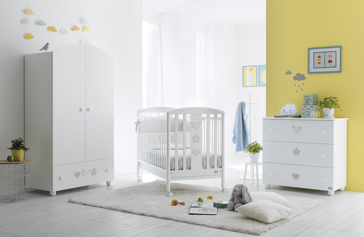 0546f65d8e6 Ολοκληρωμένο βρεφικό δωμάτιo PALI Birillo white με συρταριέρα, προίκα και  στρώμα :: PaliBaby