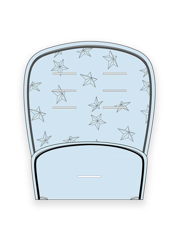 MINENE Pushchair Amp Car Seat Liner Light Blue Star PaliBaby