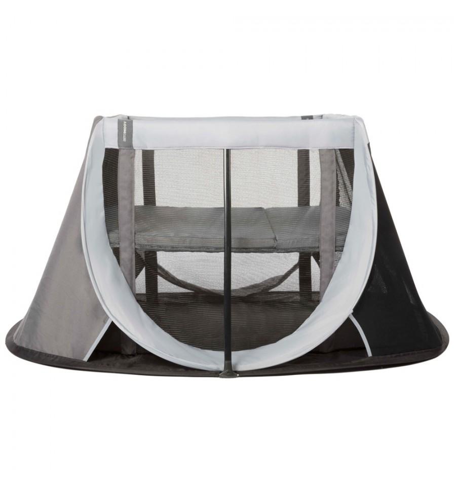 f0df3fbdcf9 Αναδιπλούμενο παρκοκρέβατο AEROMOOV Instant Travel Cot, χρώμα μαύρο/γκρι ::  PaliBaby