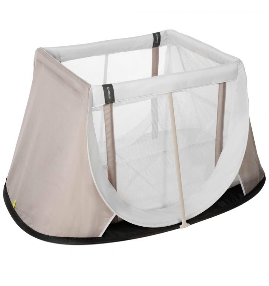 181b857f043 Αναδιπλούμενο παρκοκρέβατο AEROMOOV Instant Travel Cot, χρώμα λευκό/μπεζ ::  PaliBaby